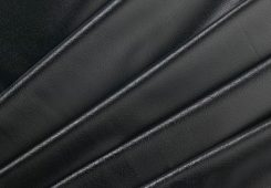 PVC Leather Grain Black