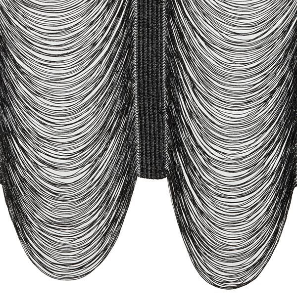 Reefer String Drape Black