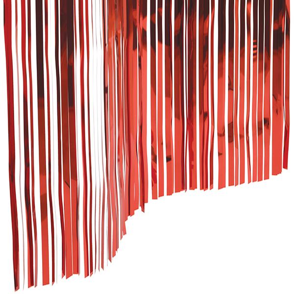 Slit Drapes Red