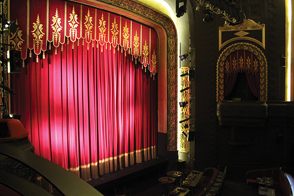 Theatre curtains stage drapes for Auditorium stage decoration