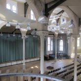 Working alongside City Build Manchester Ltd, J&C Joel supplied and installed 2 Way walk along tracks and bespoke curtains in St Peter's Church, Manchester.