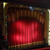 J&C Joel manufactured Liverpool Royal Court Theatre's Front of House Curtains using Heavy Velvet Velour (VELH005).