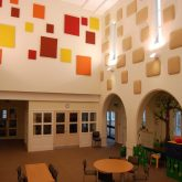 J&C Joel supplied a selection of cotton Casement fabric to the St Aidan's Centre, a children's centre managed by the Catholic Children's Society (CCS) in Wythenshawe, Manchester.