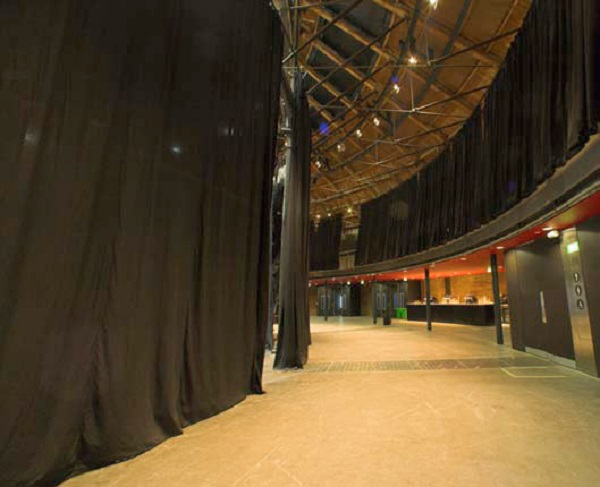 J&C Joel transformed the Roundhouse performing arts venue in London with a major installation of high quality wool serge curtains and curtain tracking systems.