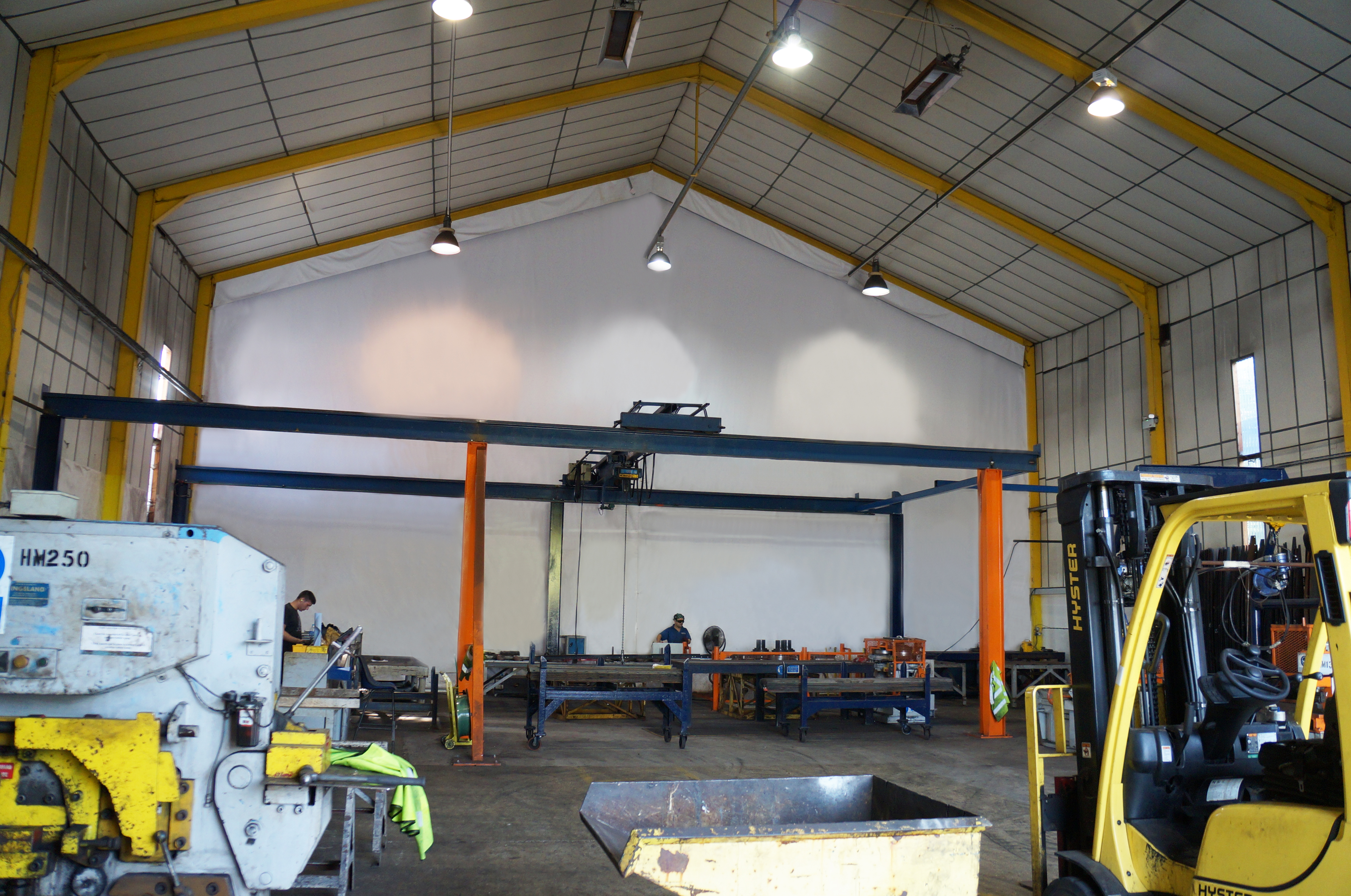 J&C Joel were instructed to design and manufacture a sound insulating drape for Permastore.