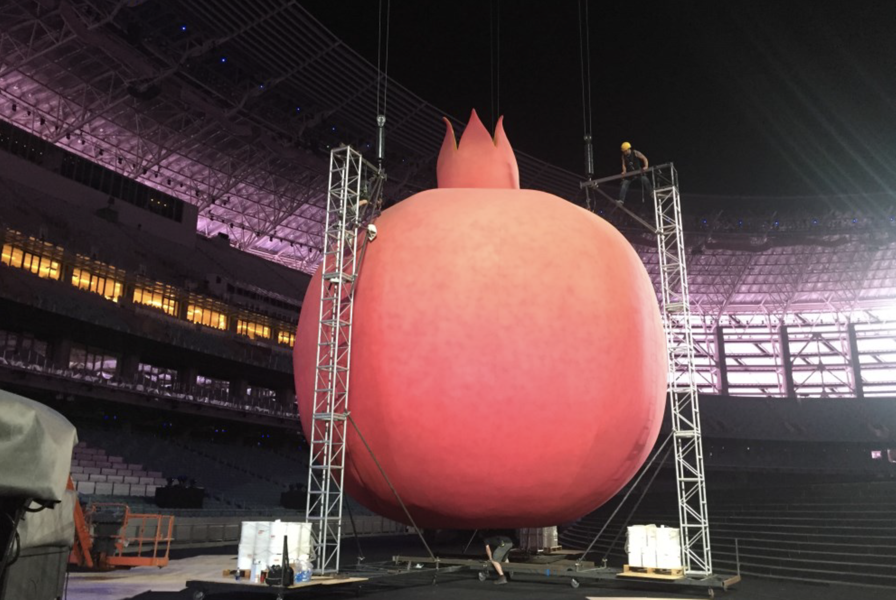 J&C Joel designed and manufactured the skin for a gigantic pomegranate for the European Games in Baku, Azerbaijan.