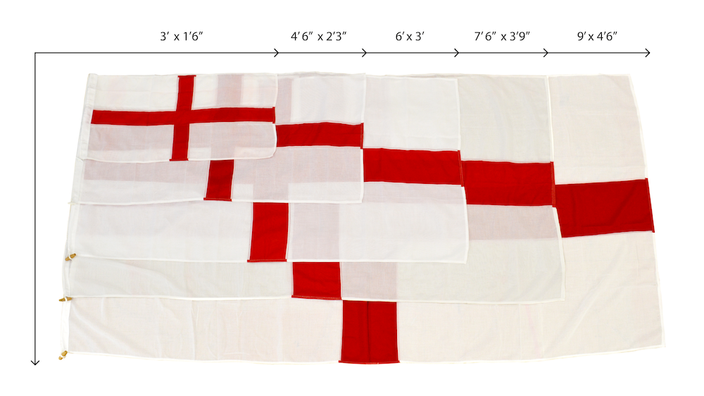 england flag range of sizes available to suit your venue