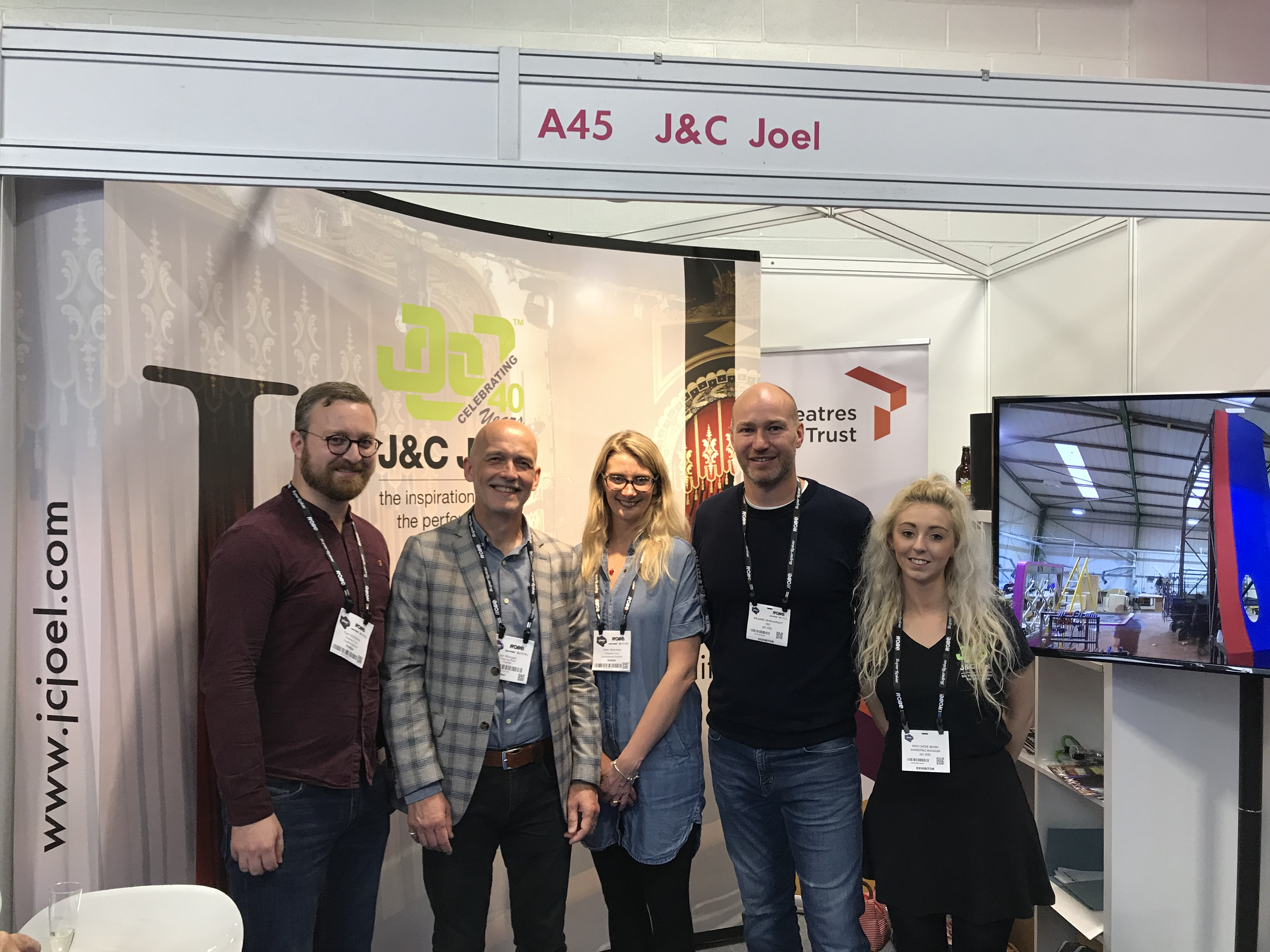 Tom, Jon, Kate of Theatres Trust with James & Cassie from J&C Joel
